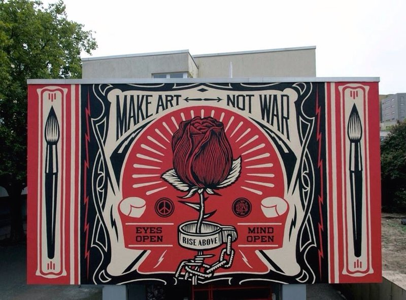 ONE WALL by Shepard Fairey / Berlin, Germany