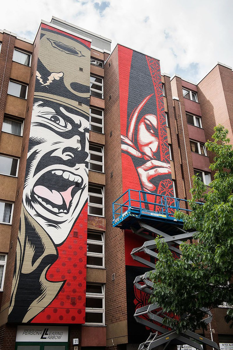 ONE WALL by D*FACE and Shepard Fairey / Berlin, Germany